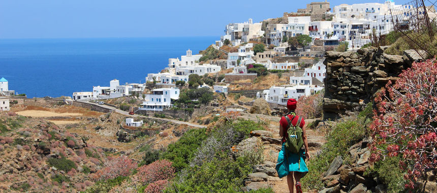 sail and hike the Cyclades Islands